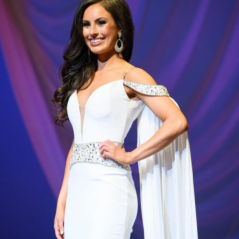 Evening gown in pageant